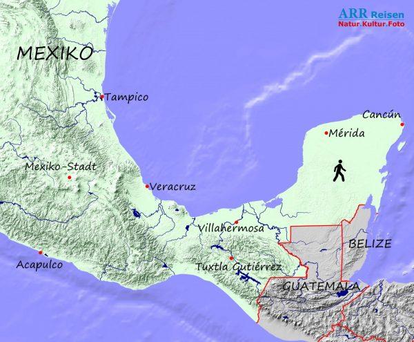 Karte_Mexiko klassisch