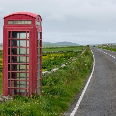 Orkney, Telefonzelle (Foto: Rainer Skrovny / ARR Reisen)