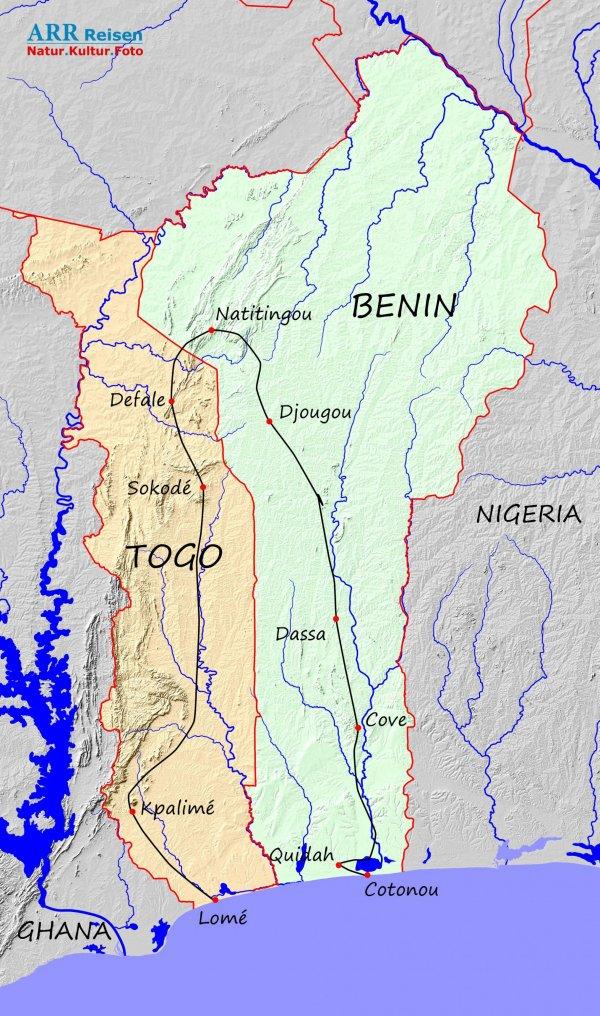 Route_Togo-Benin-ARR_Fotoreise_2022