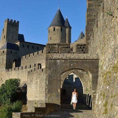 Frankreich, Carcassonne, Westtor (Foto: Peter Giovannini)