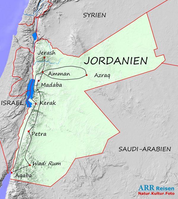 Karte_ARR-Route: Jordanien