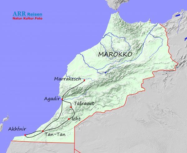Route ARR Marokko - Atlantische Sahara