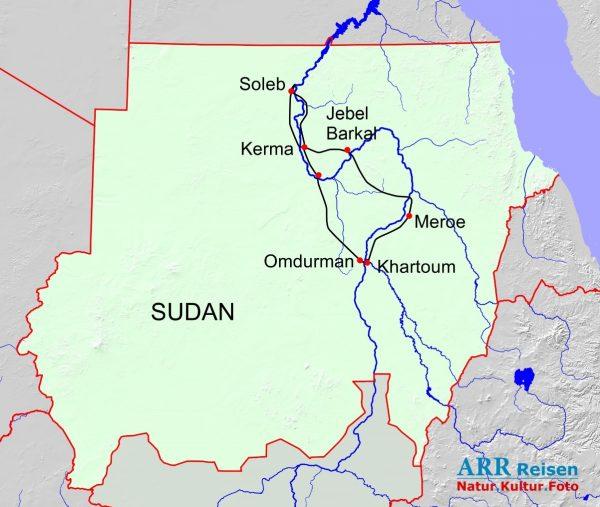 Route - ARR Sudan Schwarze Pharaonen