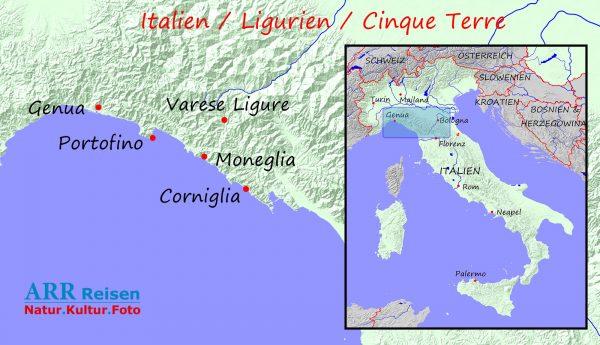 Route ARR Italien, Ligurien, Cinque Terre