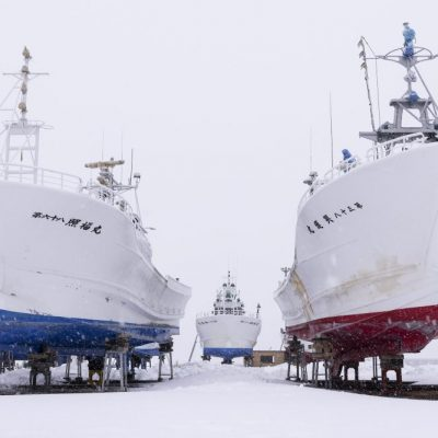 JAPAN / Hokkaido / Abashiri / Fishing harbour
