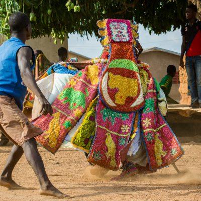 Togo - Benin, Egun-Maskentanz (Foto: Anton Schmoll)