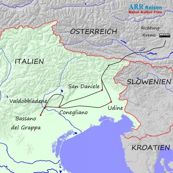 Route ARR Prosecco-Grappa-Schinken 2021