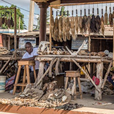 Togo - Benin, Fetischmarkt (Foto: Anton Schmoll)