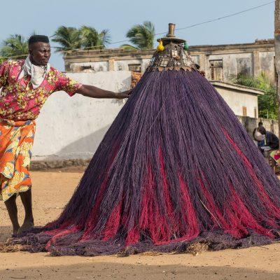 Togo - Benin, Zangbeto Maskentanz (Foto: Anton Schmoll)