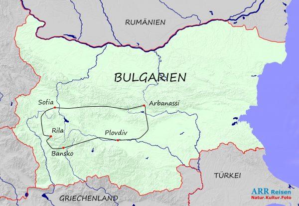 Route ARR Bulgarien_Höhepunkte_2021