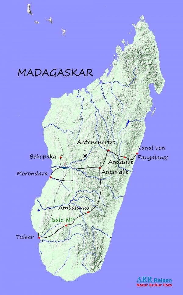 Route - ARR Madagaskar Grosse Erlebnisreise