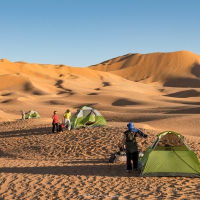 Oman, Rub-al Khali, Camping (Foto: Rainer Skrovny, ARR Reisen)