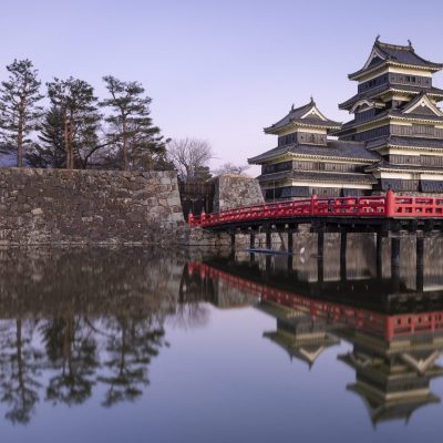 JAPAN / Nagano / Matsumoto / Matsumoto Castle and bridge