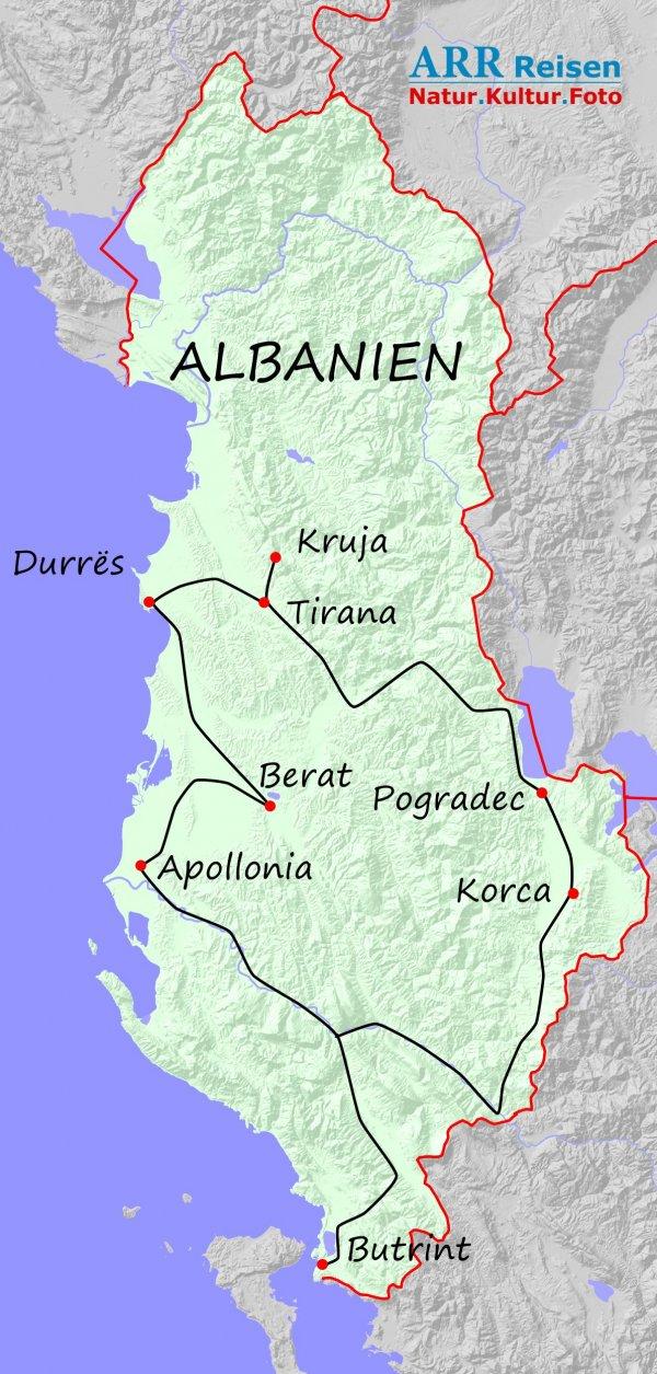 Route ARR Albanien, Unbekannte Schöne
