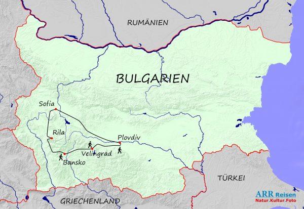 Route ARR Bulgarien, Kultur & Wandern