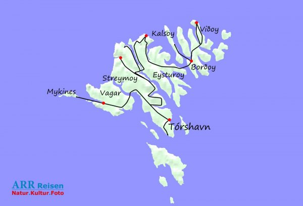 Route ARR Färöer