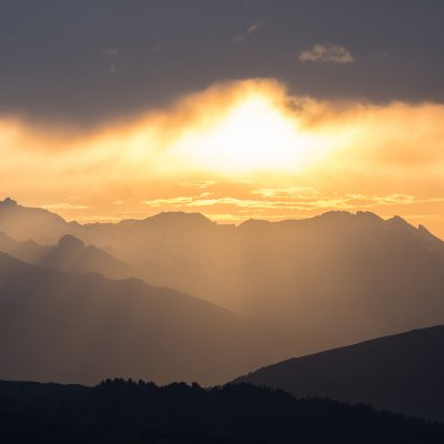 Sonnenuntergang Nockberge (Foto: Christine Sonvilla)